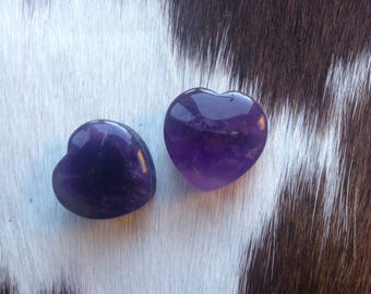 Amethyst Stone Heart Shaped Plugs Gauges 19mm 3/4""