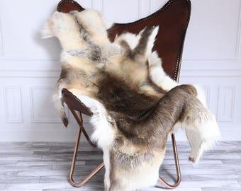Reindeer Hide | Reindeer Rug | Reindeer Skin | Throw XL Large - Scandinavian Style #15RE19