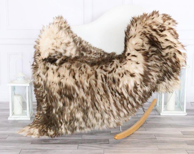 Sheepskin Rug | Real Sheepskin Rug | Shaggy Rug | Chair Cover | Sheepskin Throw |  Brown Sheepskin | #HERSEPT15