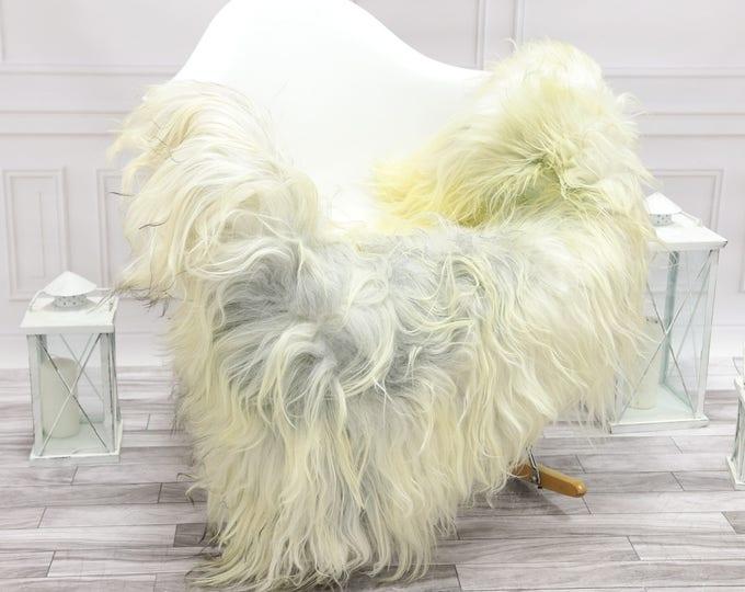 Icelandic Sheepskin | Real Sheepskin Rug | Grey Ivory Sheepskin Rug | Fur Rug | Christmas Decorations #islsept23