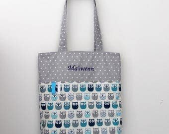 Tote bag / kids library bag - custom