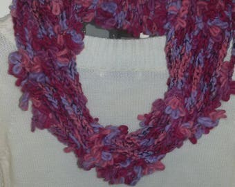 Scarf necklace made of crochet with yarn regaloperlei wool blend scarf