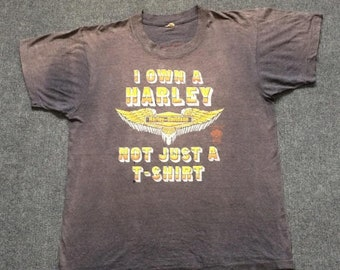 On Sale 28% Vintage Harley Davidson I Own A Harley Not A Just T-shirt 80s Rare T shirt