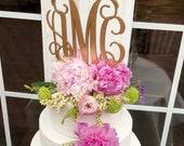 Elegant Monogram Wedding Cake Topper, Heirloom Cake Topper, Monogram Cake Topper, Initials Wedding Cake Topper, Gold Monogram Cake Topper