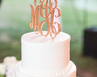 monogrammed wedding cakes. monogram wedding cake topper, initials gold monogrammed cakes h