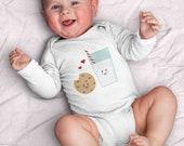 Milk and Cookies by Kathrin Legg Infant Bodysuit (milk, cookies, baby, boy, girl, newborn, kawaii, cute, food, yum)