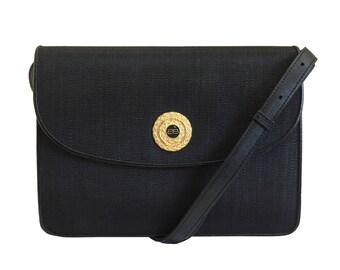 BALENCIAGA Vintage Black Leather Shoulder Bag