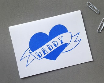 I Heart Daddy card   Father's Day card   Cards for Dad