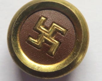 Swastika Button