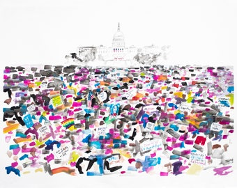 """11 x 14 in. Women's March Print """"Resistance"""" Limited Ed."""