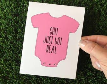 Funny Baby Card / Funny Baby Shower Card / Funny Card for New Parents / Funny New Baby Card / Funny Expecting Card / Sarcastic Baby Card