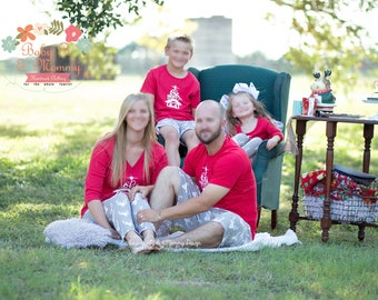 Family Christmas Outfits pajamas for photoshoots-Christmas Pajamas more pictures for examples only
