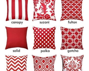 sale red pillow cover red decorative pillow sham solid red pillow cover red