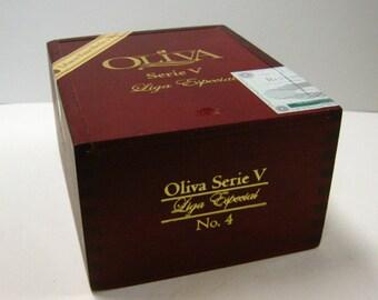 Oliva All Wood Cigar Box Craft Supply Purse Craft Storage Supply Pocketbook Repurpose Upcycle Cigar Box Pocketbook Art Craft Supply