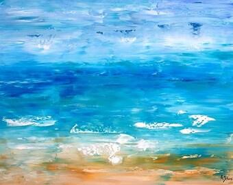 Abstract beach art Ocean art Beach print Ocean print Seascape art Wave art Seascape print Beach art Fine art Beach art print Ocean art print