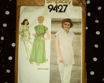 Uncut pattern maternity dress slacks size 14