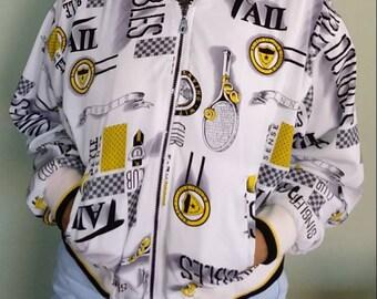 Vintage Tail oversized zip up tennis jacket large