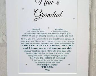 Grandparent gift, gifts for Grandparents, Nan and Grandad gift, Grandparents gift, gift nan, gift grandad, Christmas Grandparent gift