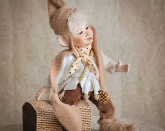 Poseable art doll Housewarming Gift new home gift porcelain doll art dolls posable art doll handmade doll elf figurine LIMITED EDITION