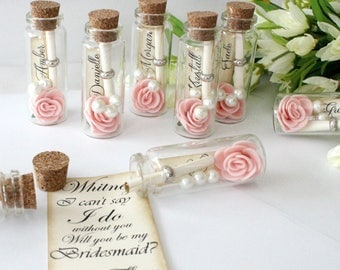 Will You Be My Bridesmaid   Message In A Bottle  Bridesmaid Gift    Bridesmaid Card