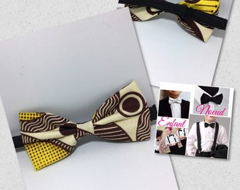 Bow tie for child wax beige