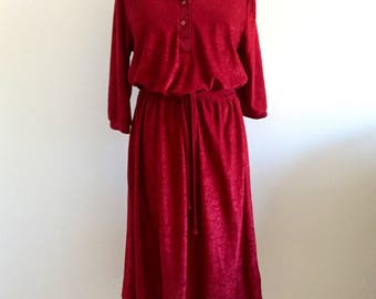 Ladies/vintage/dress/red/1970s/casual/size 38/everyday vintage
