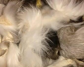 1 Quart Bag RANCH FOX Fur Scraps, great for crafts!