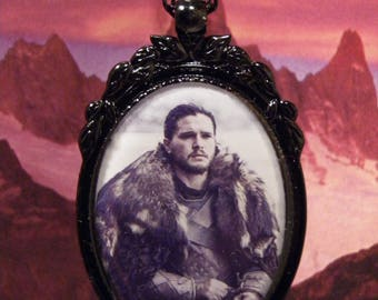 Game of Thrones, Jon Snow Necklace, Kit Harington, The Nights Watch, Jon Snow