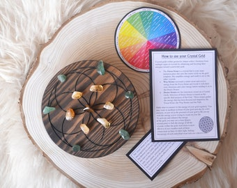 Crystal Grid Complete Set, Healing crystals, crystal grids - Seed Of Life