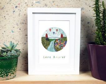 Love Bristol Print A5 or A4