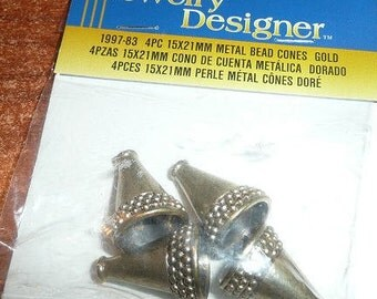Darice Metal Bead Cones Gold Color