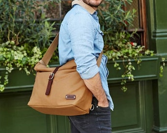 Messenger Bag / Canvas Messenger Bag / Cycle Bag / Bike Bag / Men's Messenger / Laptop Messenger / Roll Messenger / Flap Messenger / Camel