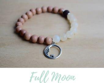 Energy Bracelet / calming bracelets, moon phases bracelet, moon cycle, good vibes only, positive vibes, statement bracelets, moonstone