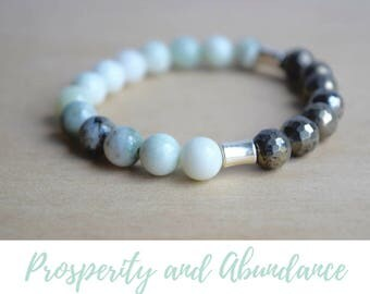 Serpentine and Pyrite Bracelet / cheer up gift for bestfriend, good vibes only, everyday bracelet, yoga bracelet ideas, nice gift for her