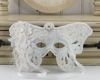 White Masquerade Mask, Masquerade Mask, White Mask, Masquerade Masks Women, Masquerade Ball Masks, Masquerade Party Decorations, White Lace