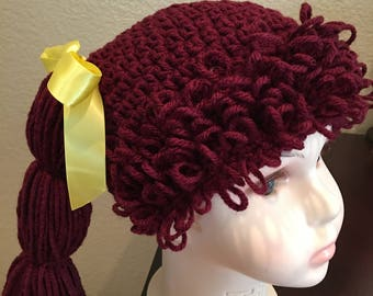 Cabbage Patch hat ....size 1 to 3 years old...Color - Claret