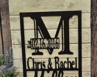 Personalized Pallet Sign, Personalized Wedding Gift, Established Sign, personalized Wooden Sign, NamePallet Sign, Est sign, custom sign