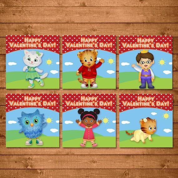 Daniel Tiger Valentine's Day Cards - Daniel Tiger School Valentines Cards - Daniel Tiger Printable Cards - Daniel Tiger Valentines