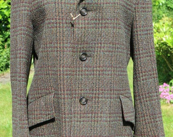 Dunn & Co 60's men's wool / cashmere tweed coat / jacket 38R