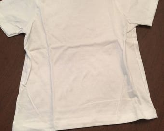 White Organic Cotton Baby Toddler Clothes Plain T-shirt Size 4