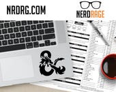 Dungeons and Dragons Laptop Decal - D&D Ampersand Phone Decal -  DnD laptop, phone and window sticker