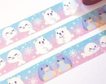 Arctic Washi Tape - Stationery Journalling Penguin Art Supplies