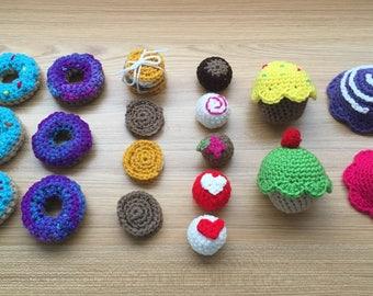 Crochet Play Food Dessert Kit