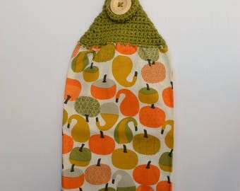Hanging Tea Towel - Fall Pumpkins and Gourds