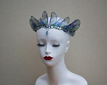 Enchanting Mermaid/Siren/Fairy Queen Rounded Fairy Wing/Bridal/Prom/Pagan Tiara/Crown/Headdress