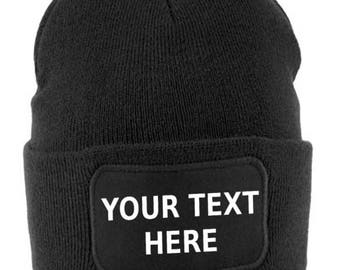 Personalised beanie hat - personalised beanie - custom beanie - custom beanies - personalised gift - personalised gift - beanies - beanie