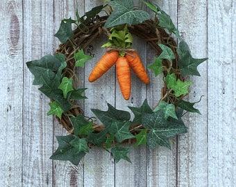 Easter Decor, Easter Carrot Wreath, Carrot Wreath, Easter Wreath, Easter Door Wreath, Easter Carrot, Easter Door Decor, Easter Door Hanger
