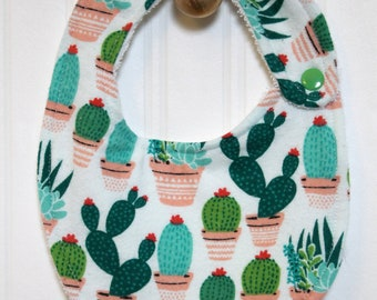 Cute as a Cactus Bib