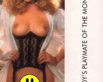 MATURE - Playboy Trading Card March Edt. 1986 - Playmate Centerfold - Kim Morris - Card #99