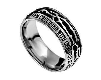 """Crown Of Thorns Ring """"Crucified"""""""